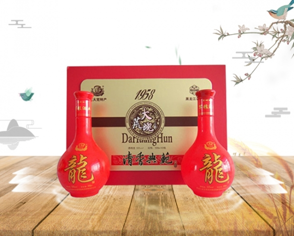 军川龙白酒53度(1×4)